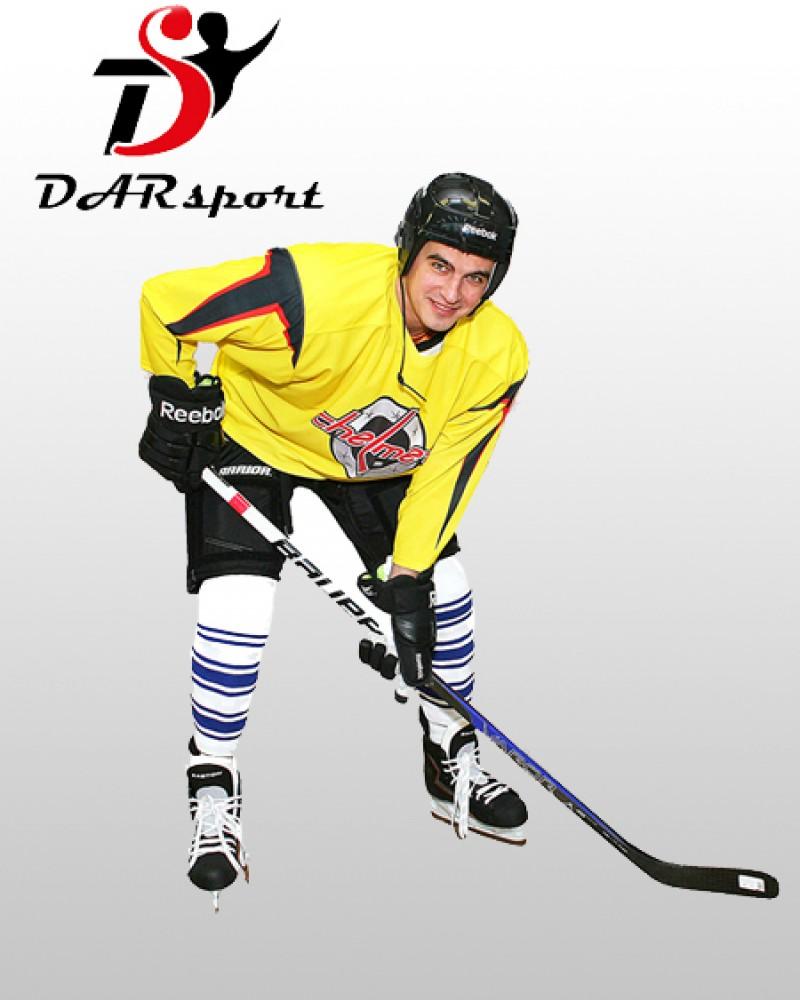 Свитер хоккейный игровой сублимационный профессиональный без шнуровки