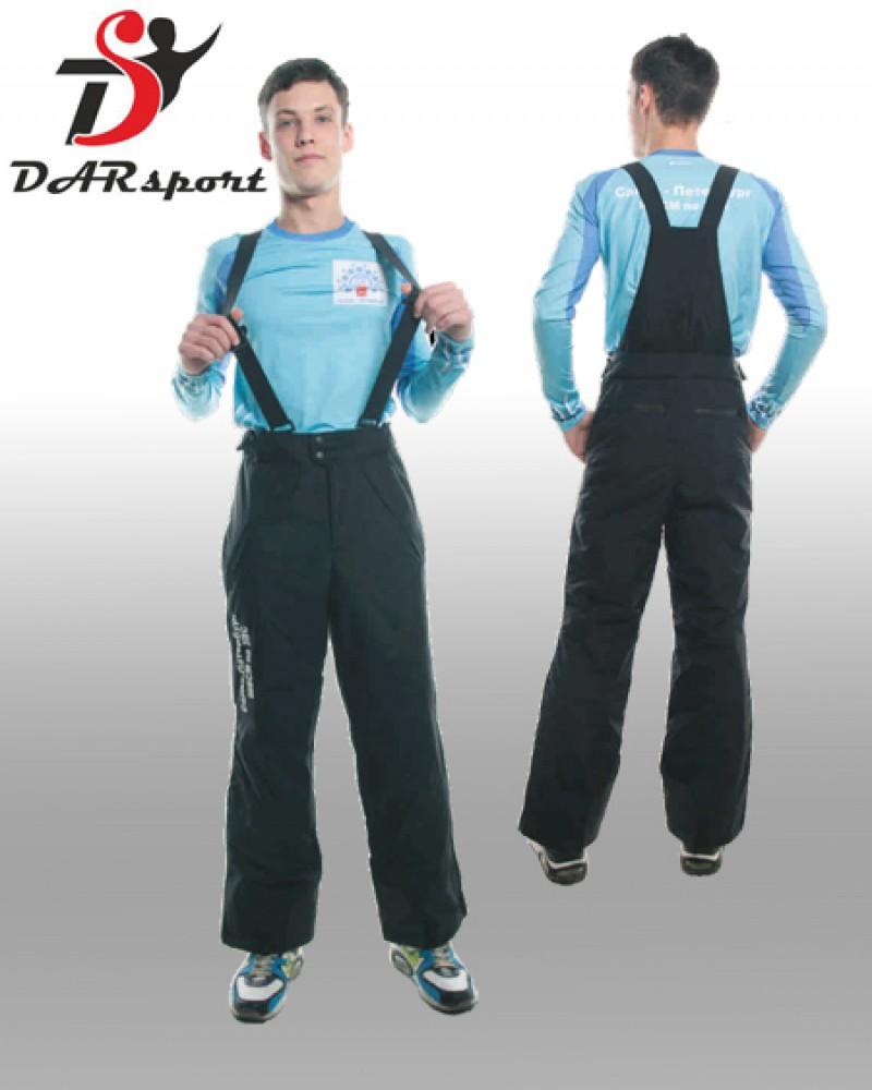 Зимние спортивные брюки с лямками